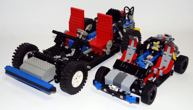 autotest lego technic chassis 40years von 2017 gegen lego technic 8860 von 1980 knoppzone. Black Bedroom Furniture Sets. Home Design Ideas